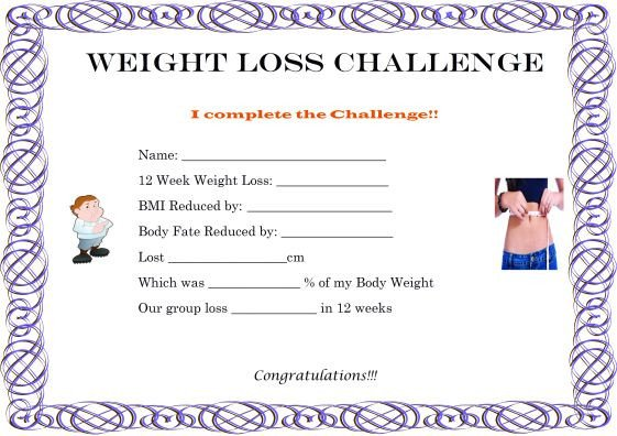 Biggest Loser Certificate Template 27 Of Weight Loss Contest Template
