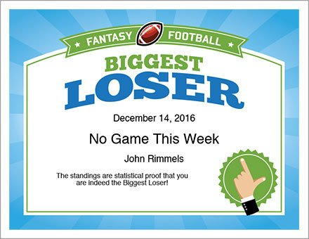 Biggest Loser Certificate Template Biggest Loser Award Certificate