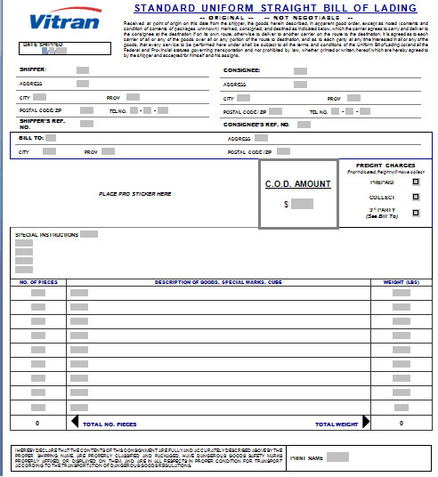 Bill Of Lading Template Excel 21 Free Bill Of Lading Template Word Excel formats
