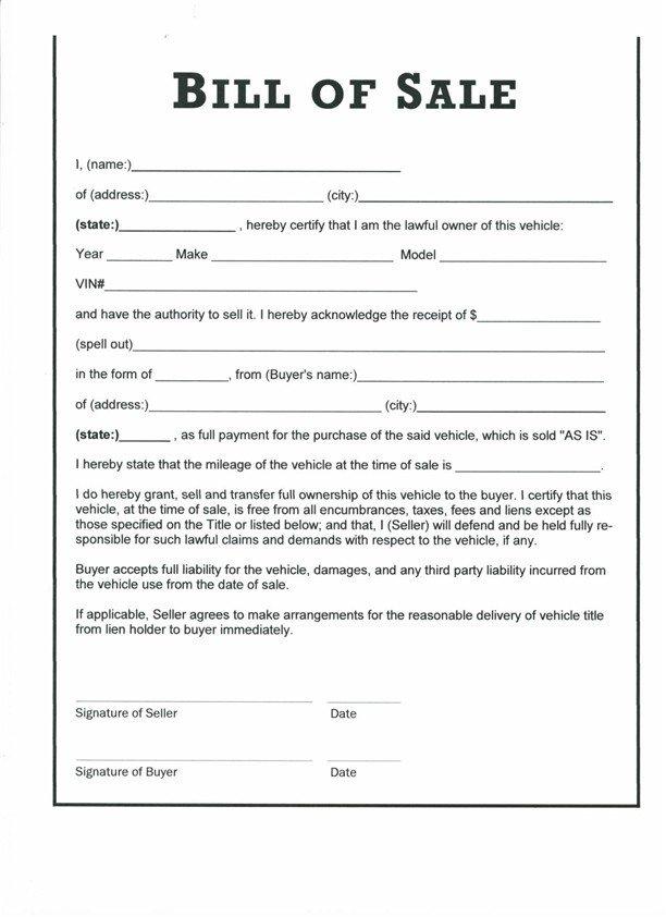 Bill Of Sale Colorado Template Download Bill Of Sale Free Template