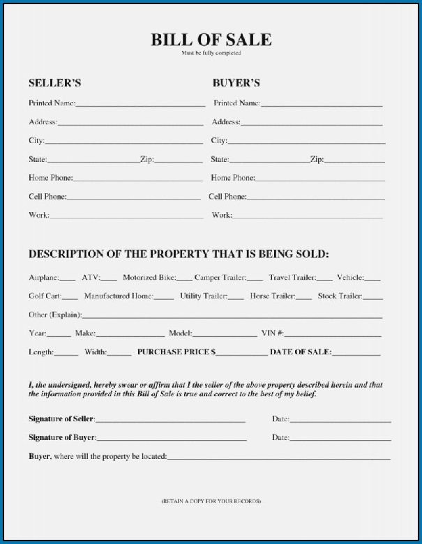 Bill Of Sale Colorado Template when to Use Bill Sale Word Template 56