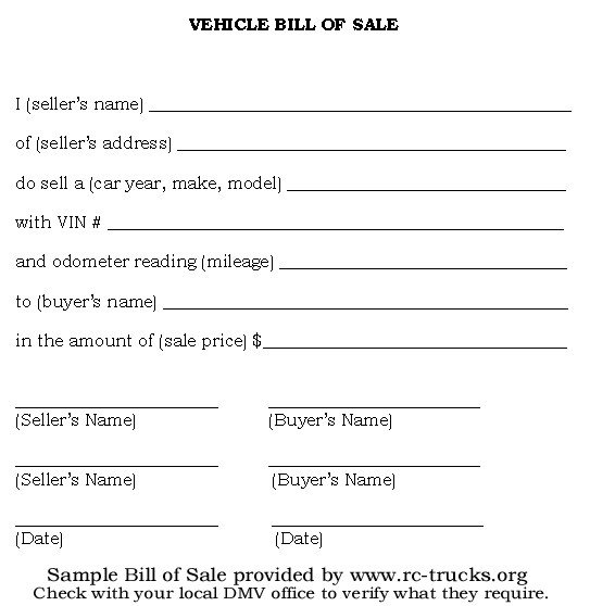 Bill Of Sale Florida Template Free Printable Vehicle Bill Of Sale Template form Generic