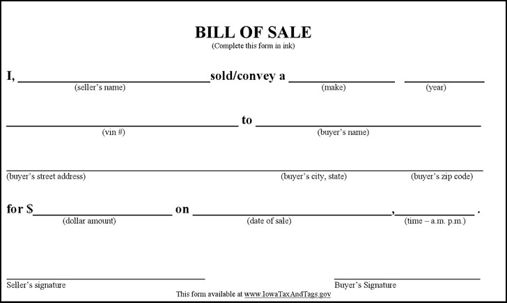 Bill Of Sale Florida Template top 5 Free Samples Bill Of Sale Templates Word