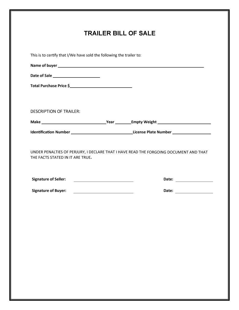 Bill Of Sale form Template 45 Fee Printable Bill Of Sale Templates Car Boat Gun