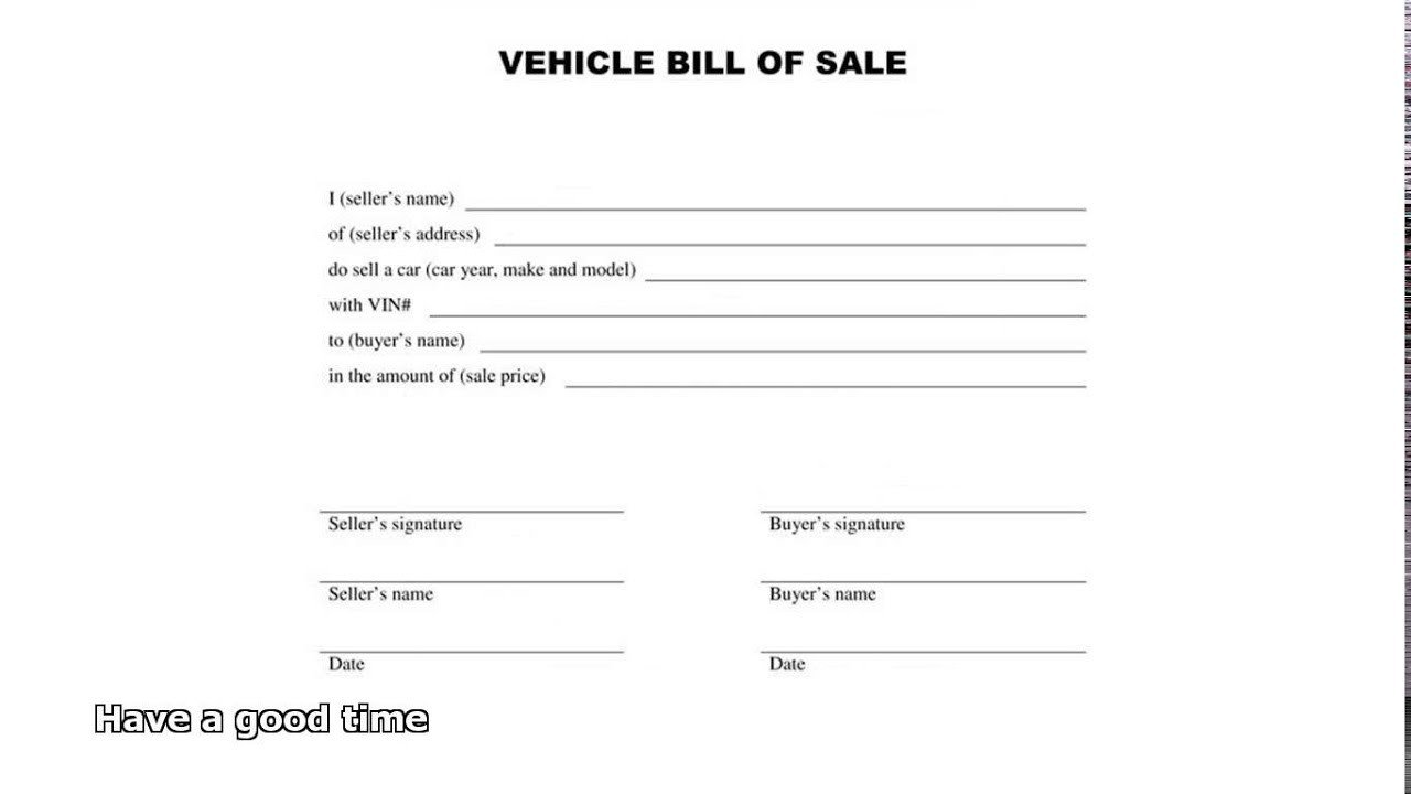 Bill Of Sale Images Bill Of Sale Car