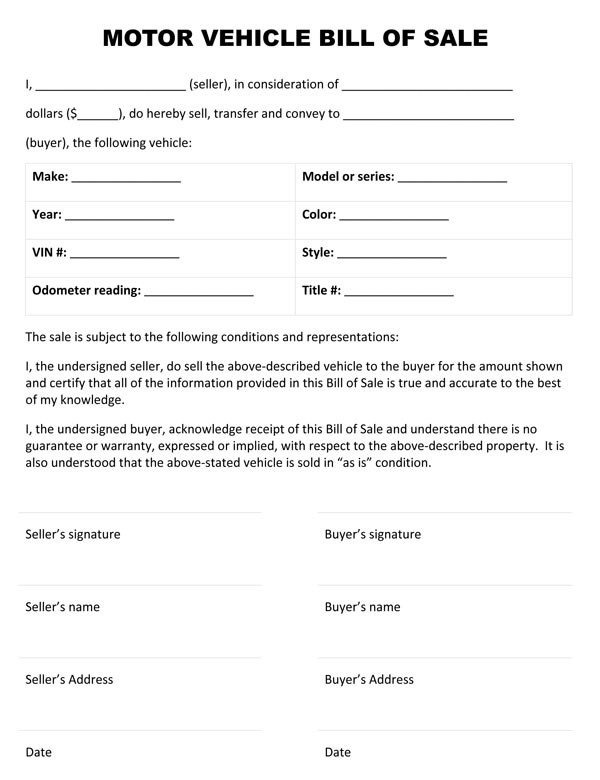Bill Of Sale Images Bill Sale forms Free Printable Documents