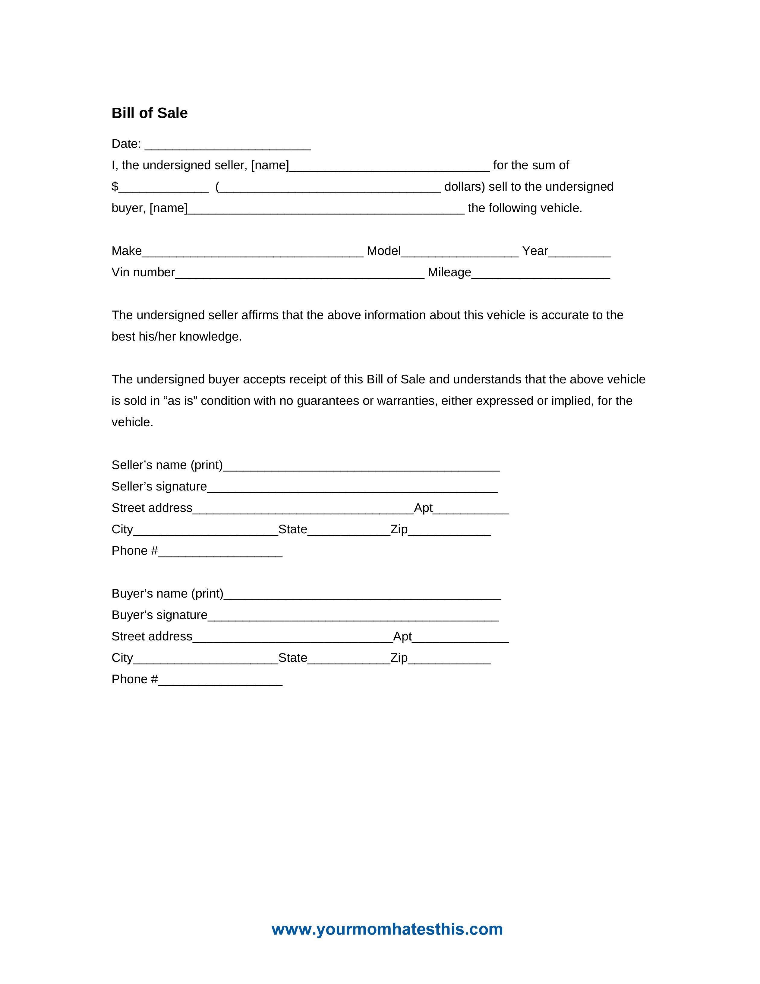 Bill Of Sale Images Download Bill Sale form Pdf