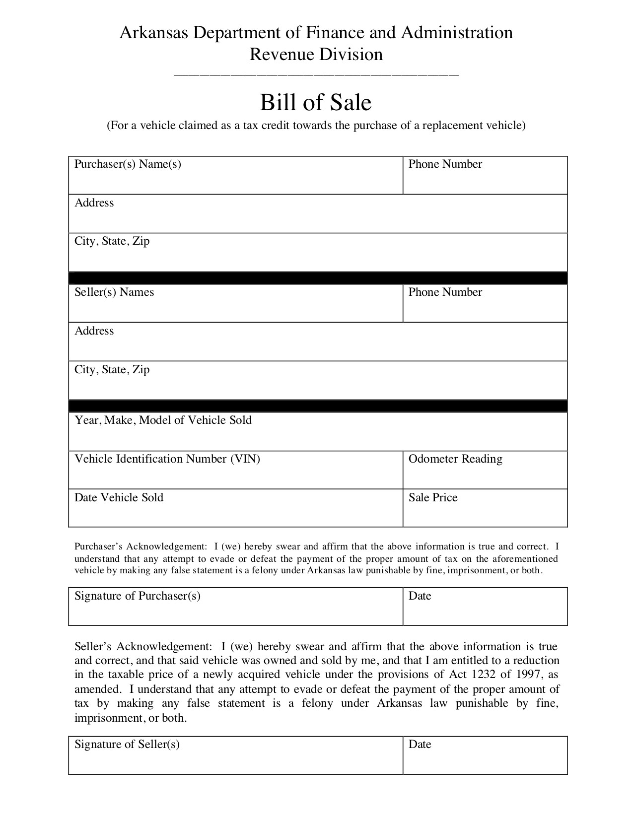 Bill Of Sale Images Free Arkansas Bill Of Sale form Pdf Template