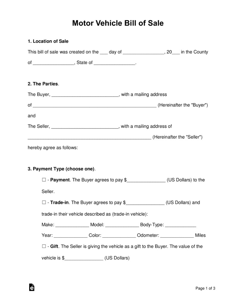 Bill Of Sale Images Free Motor Vehicle Dmv Bill Of Sale form Pdf