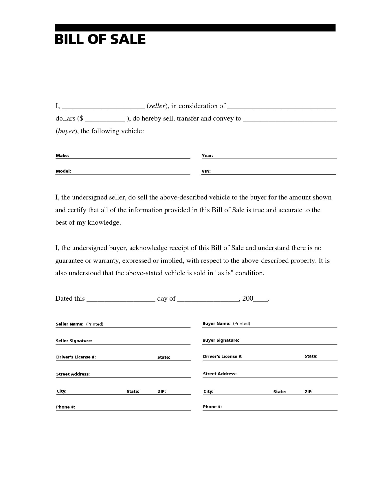 Bill Of Sale Images Free Printable Bill Of Sale for Rv form Generic