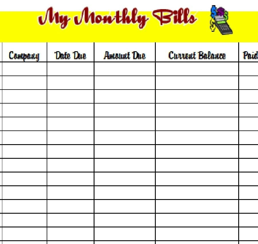 Bill Pay Calendar Template Download the Pdf Template and Keep Track Of Your Monthly