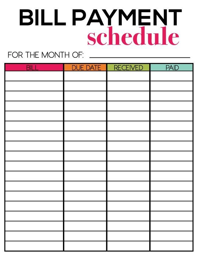 Bill Pay Calendar Template Free Printables for Newsletter Subscribers Thirty