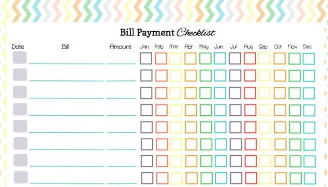 Bill Pay Calendar Template Here S A Free Bill Payment Checklist to organize Your Bill