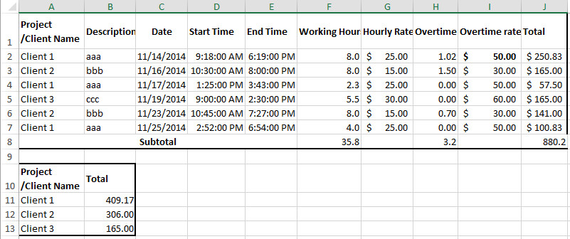 Billable Hours Template Excel Free How to Create Billable Hours Template In Excel