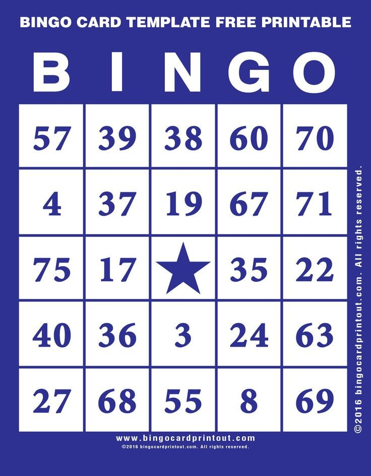 Bingo Card Template Free 17 Best Ideas About Bingo Template On Pinterest