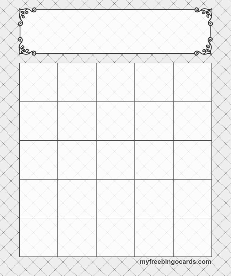 Bingo Card Template Free 5x5 Bingo Templates Cards