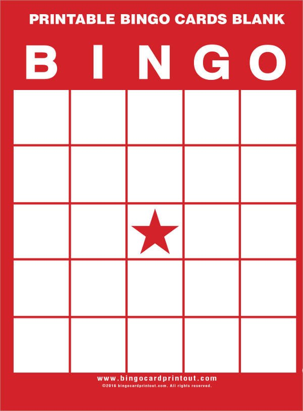 Bingo Card Template Free 9 Free Printable Cards