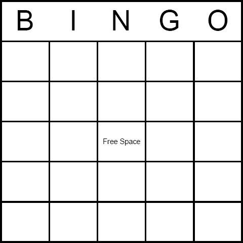 Bingo Card Template Free Best 25 Bingo Card Template Ideas On Pinterest