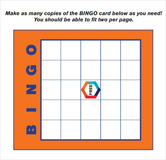 Bingo Card Template Free Sample Bingo Card 11 Documents In Pdf Word