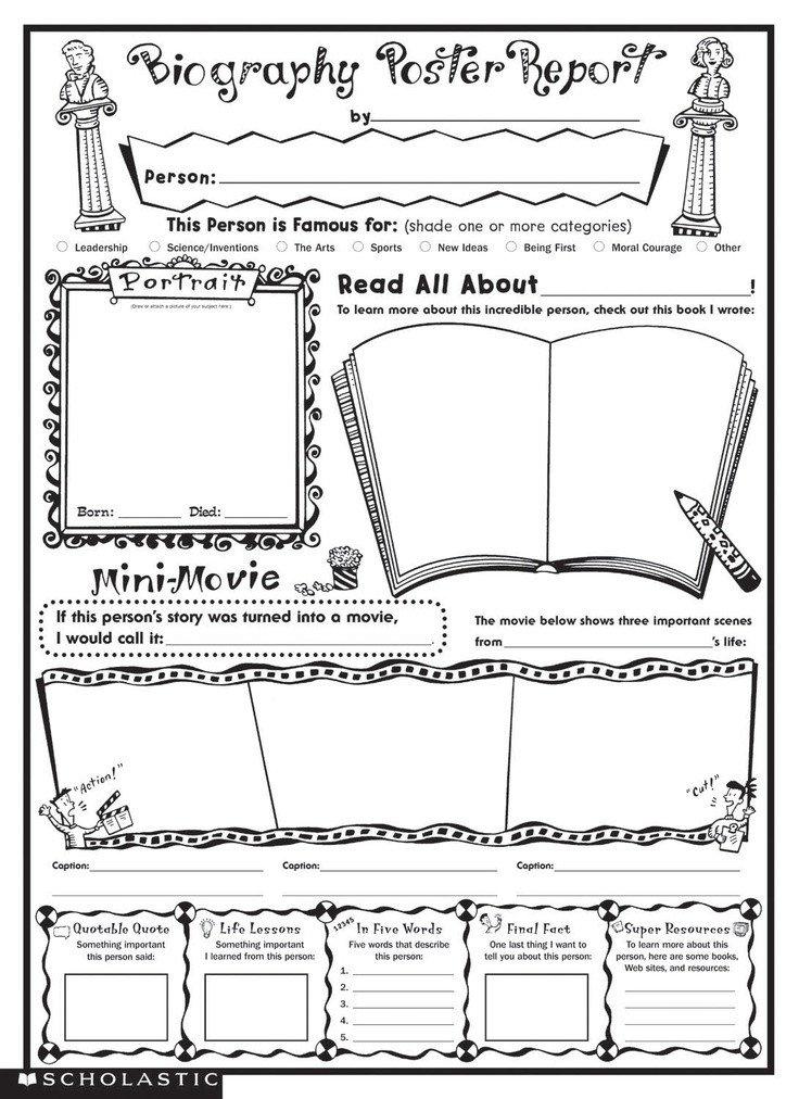 Biography Book Report Template Biography Book Report Template