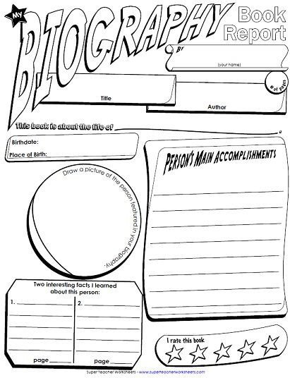 Biography Book Report Template We Have Added Another Book Report Poster to Our Collection