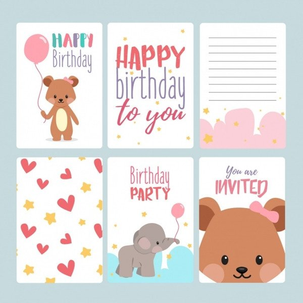 Birthday Card Template Free 17 Birthday Card Templates Free Psd Eps Document