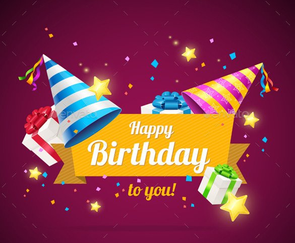 Birthday Card Template Free 21 Birthday Card Templates – Free Sample Example format