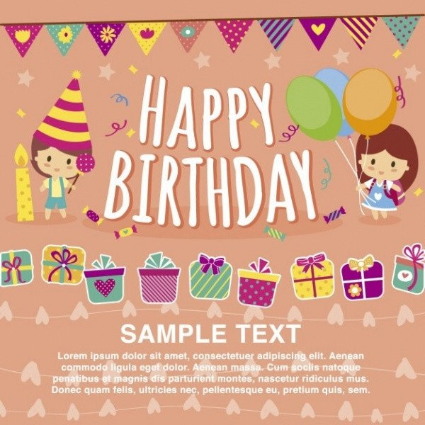 Birthday Card Template Free 32 Kids Birthday Invitations & Ideas Psd Vector Eps