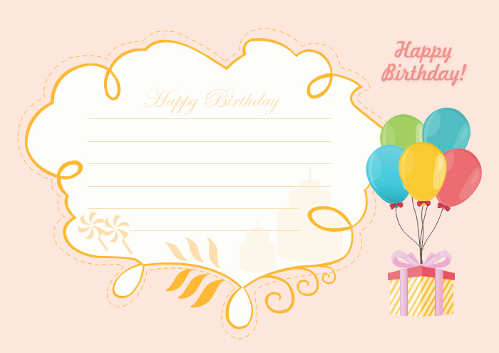 Birthday Card Template Free Free Editable and Printable Birthday Card Templates