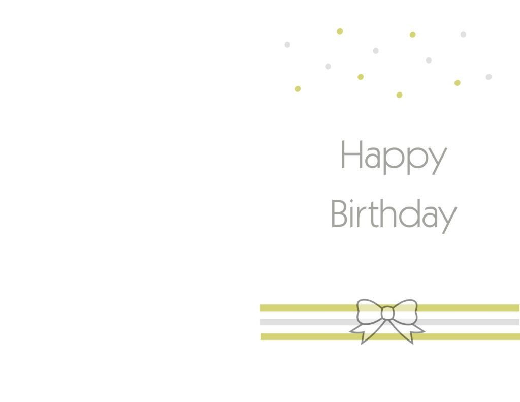 Birthday Card Template Free Free Printable Birthday Cards Ideas – Greeting Card