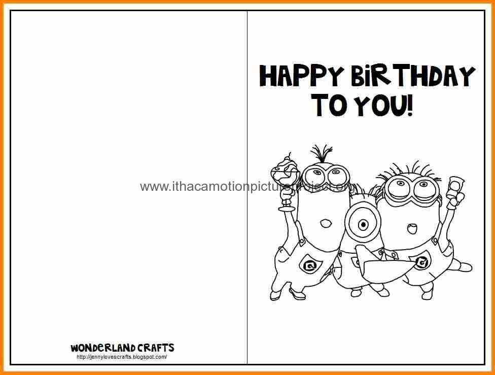 Birthday Card Template Free Printable Birthday Cards Template