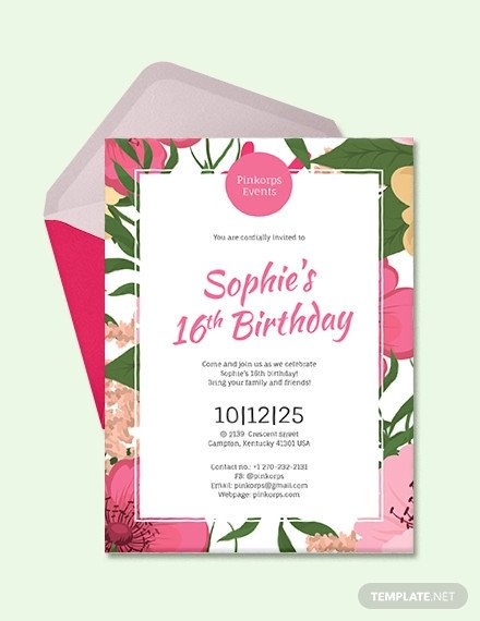 Birthday Invitation Templates Word 49 Birthday Invitation Templates Psd Ai Word