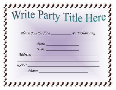 Birthday Invitation Templates Word 5 Invitation Templates Word Excel Pdf Templates