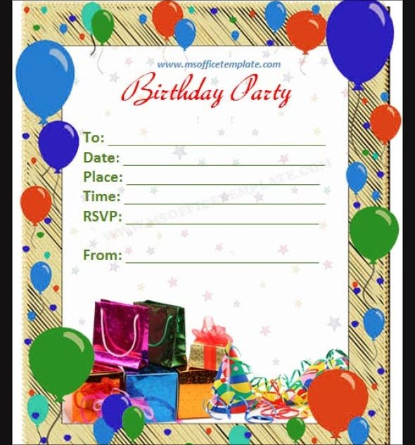 Birthday Invitation Templates Word 63 Printable Birthday Invitation Templates Pdf Psd Word