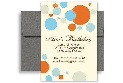 Birthday Invitation Templates Word Bright Colorful Kids Microsoft Word Birthday Invitation