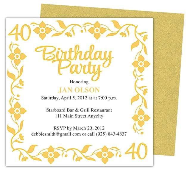 Birthday Invitation Templates Word Invitation Template Word