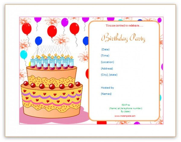 Birthday Invitation Templates Word Microsoft Word Templates Birthday Invitation Templates