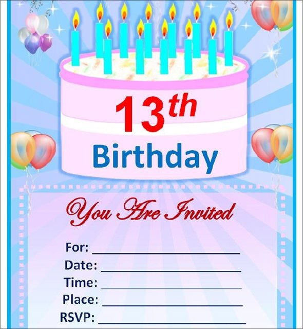 Birthday Invitation Templates Word Sample Birthday Invitation Template 40 Documents In Pdf