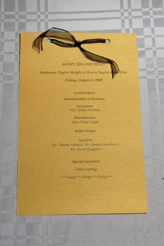 Birthday Party Program Outline 50th Birthday Gala Program I Designed Printed and