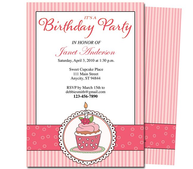 Birthday Party Program Outline 7 Best Of Free Printable Birthday Program Templates