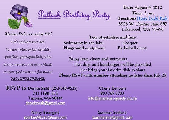 Birthday Party Program Outline Marian Daly S 80th Birthday Line Invitations & Cards by