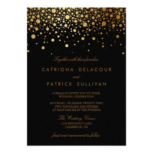 Black and Gold Invitation Template 30 000 Black and Gold Invitations Black and Gold