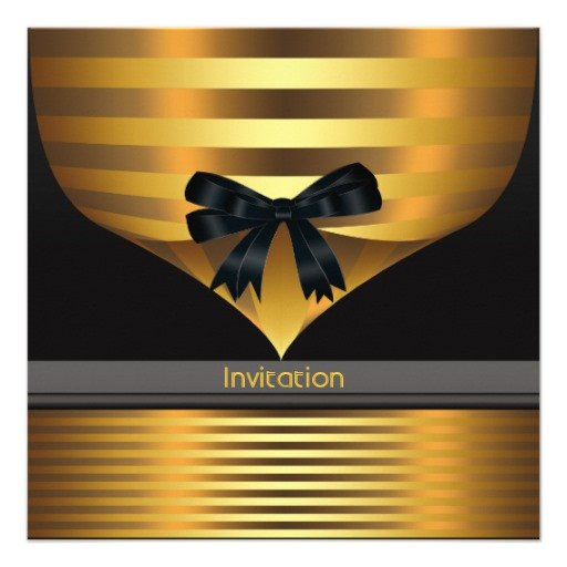 Black and Gold Invitation Template All Occasion Black Gold Party