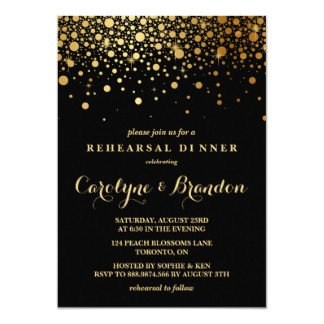 Black and Gold Invitation Template Black and Gold Invitations & Announcements