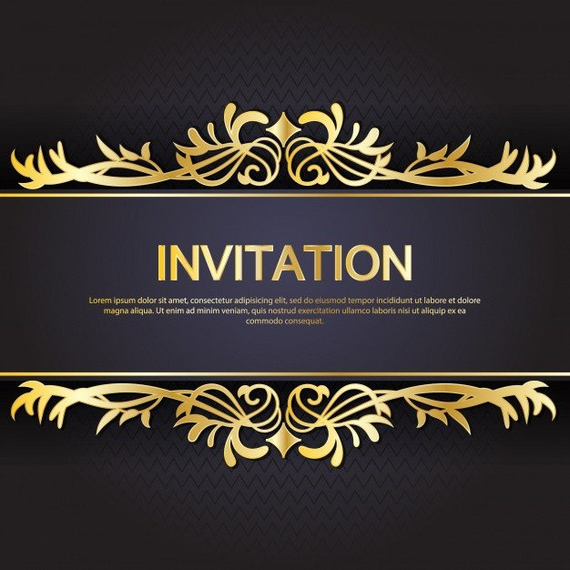 Black and Gold Invitation Template Gold and Black Invitation Template Vector