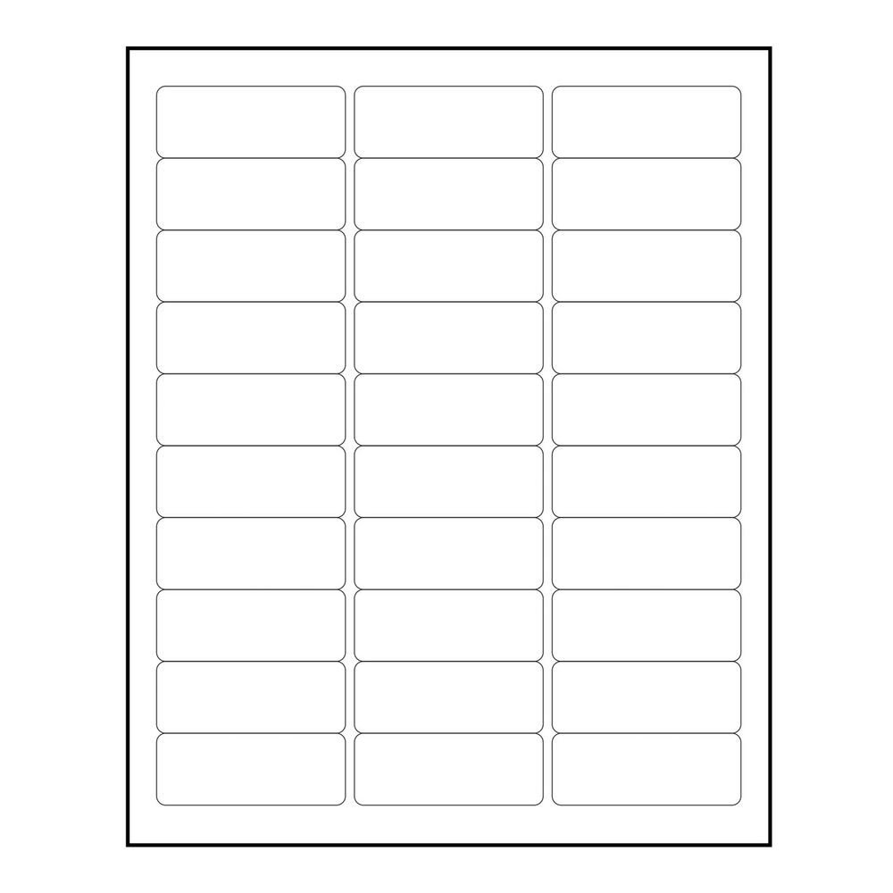 "Blank Address Label Template 3000 Blank 1"" X 2 5 8"" Return Address Labels Inkjet"
