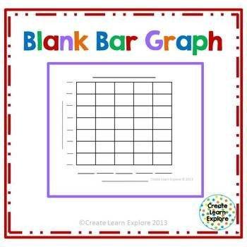 Blank Bar Graph Template Blank Bar Graph Freebie 1st Grade Pinterest