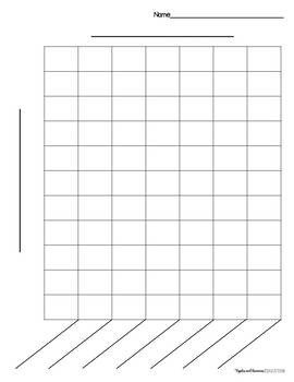 Blank Bar Graph Worksheets Bar Graph Templates by Apples and Bananas Education