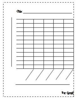 Blank Bar Graph Worksheets Blank Bar Graph by Learning with Leann