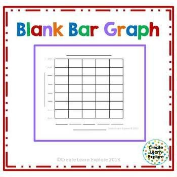 Blank Bar Graph Worksheets Blank Bar Graph Freebie 1st Grade Pinterest